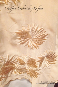 Close up of the exquisite embroidery work