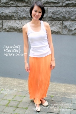 Scarlett Pleated Maxi Skirt