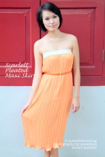 Scarlett Pleated Maxi Skirt - Wear as Strapless Dress
