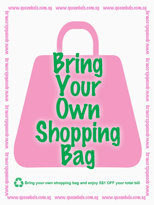 Bring Your Own Shopping Bag and Enjoy S$1 OFF total bill