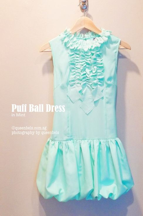 Puff Ball Dress in Mint