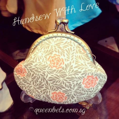 Coral Peony Kisslock Purse