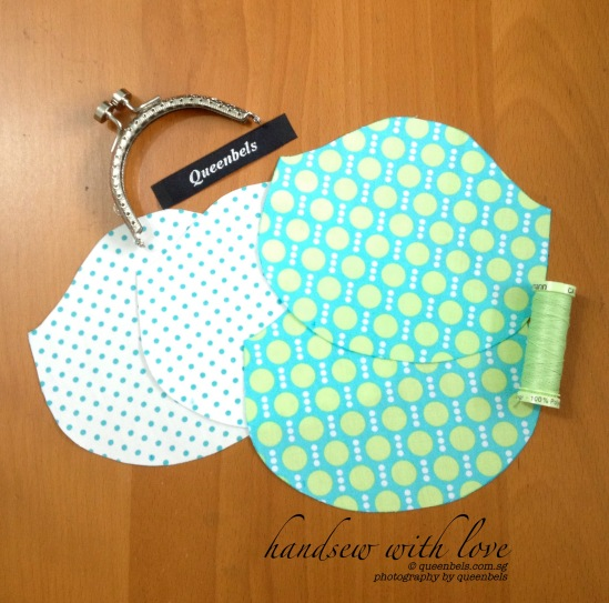 Work in Progress ~ Happy Mint Dots Kisslock Purse
