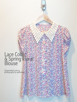 Lace Collar and Spring Floral Blouse 1