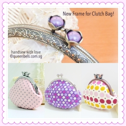 Purple Ruby Kisslock Frame For Clutch Bags