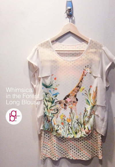 Whimsical in the Forest Long Blouse