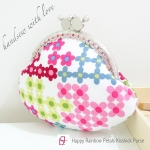 Happy Rainbow Petals Kisslock Purse