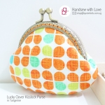 Lucky Clover Kisslock Purse in Tangerine