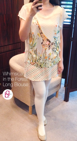 I Wear Queenbels - Whimsical in the Forest Long Blouse