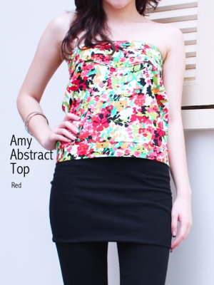 Amy-Abstract-Top-in-Red